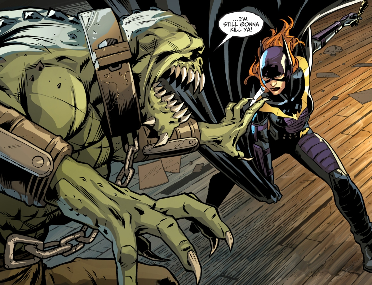 Batgirl Faces Off With Killer Croc | Comicnewbies