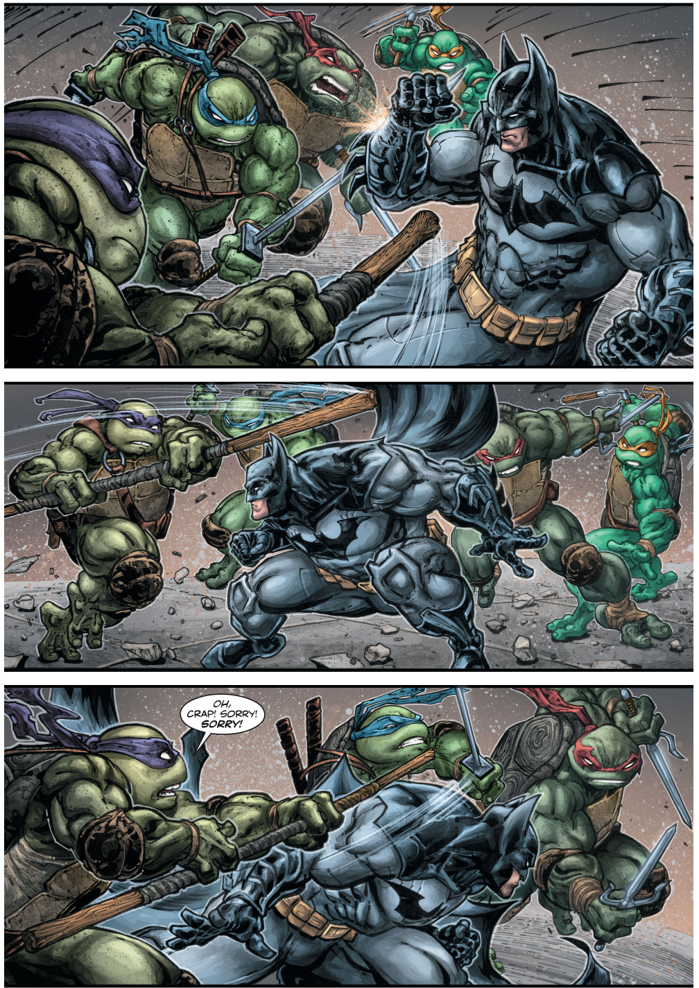 Batman Vs Teenage Mutant Ninja Turtles