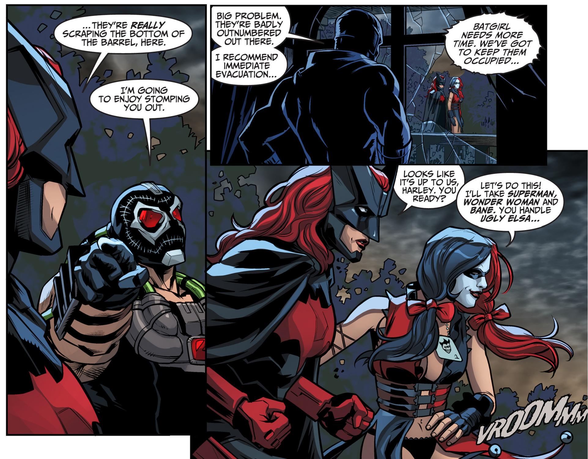 Batwoman And Harley Quinn Vs Bane And Killer Frost Vs -4049