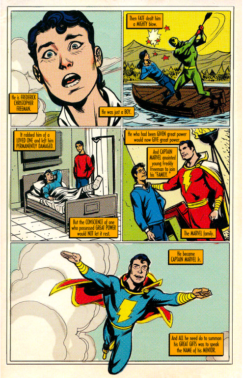 Captain Marvel Jrs Origin Trials Of Shazam