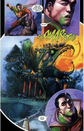 Captain Marvel VS Giant Frog