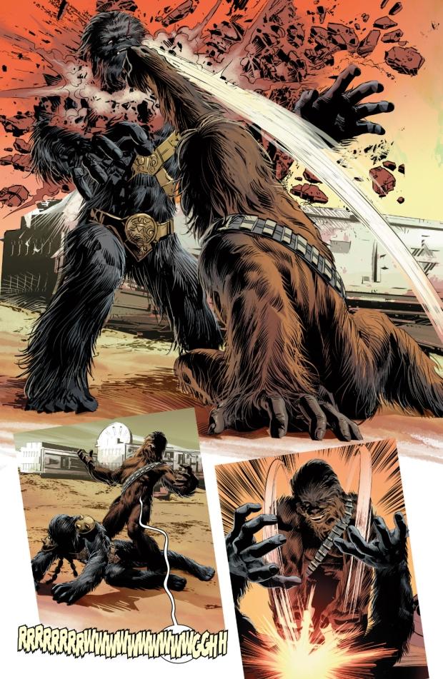 chewbacca vs Black Krrsantan