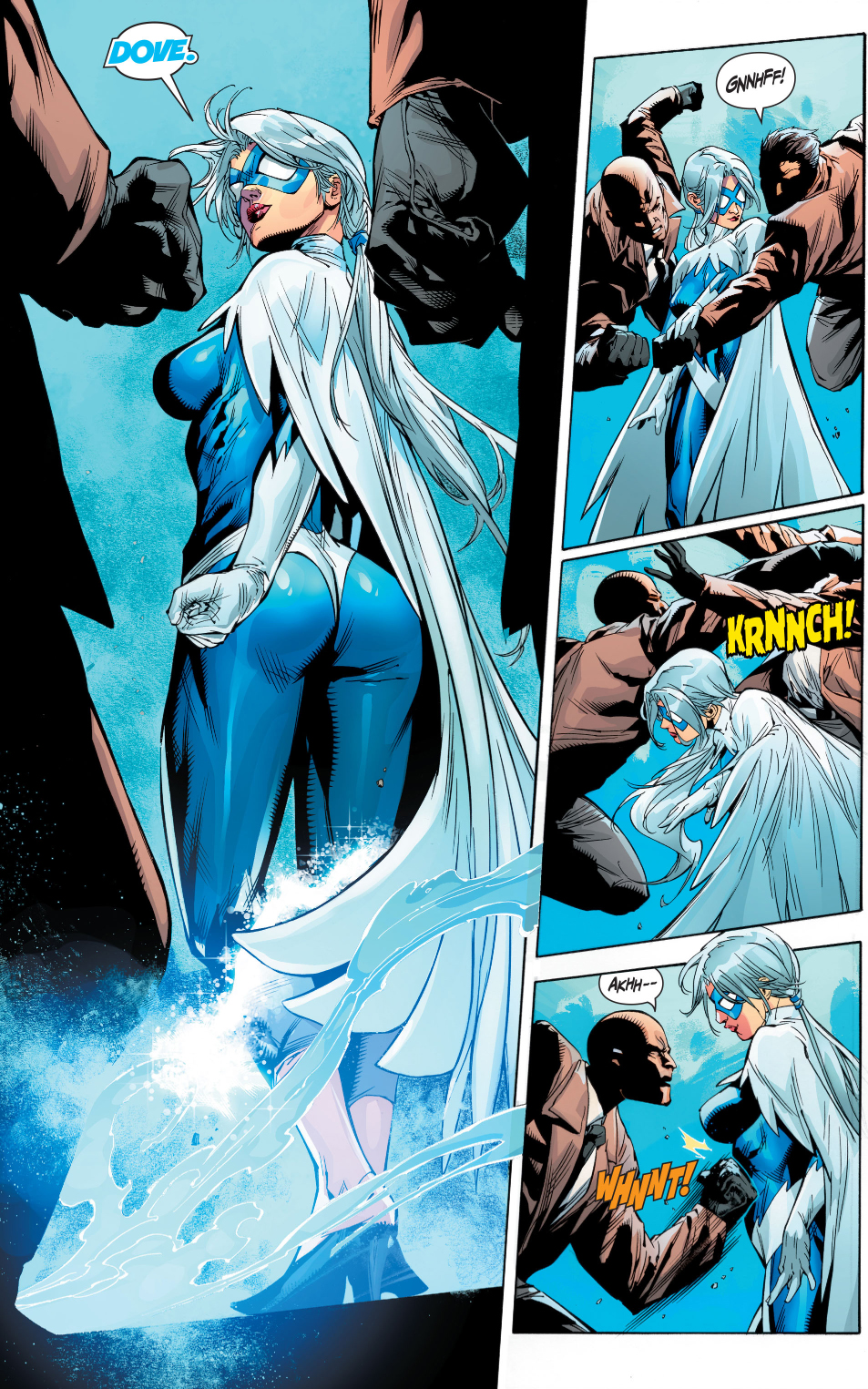 hawk and dove beating up on gangsters comicnewbies. Black Bedroom Furniture Sets. Home Design Ideas