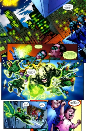 how coast city stood by green lantern