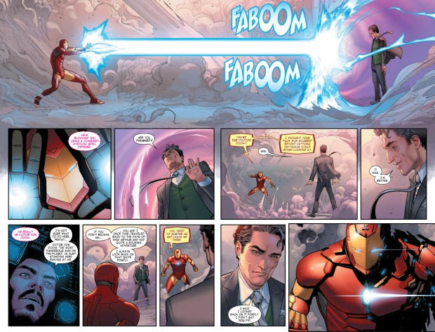 iron man uses the hulkbuster against doctor doom