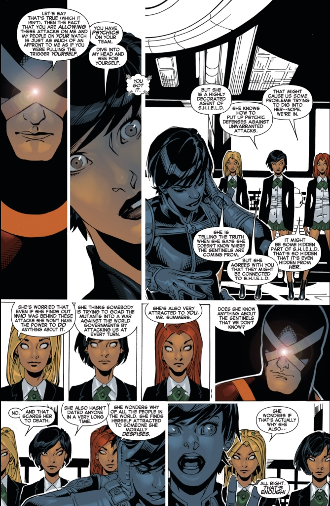 maria hill is attracted to cyclops