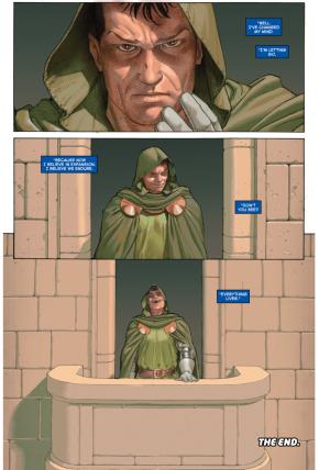 Mister Fantastic Heals Doctor Doom's Face
