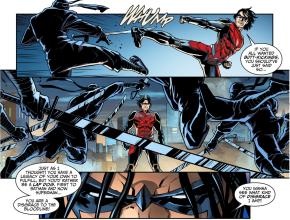 Nightwing (Damian Wayne) VS League of Shadows Ninjas