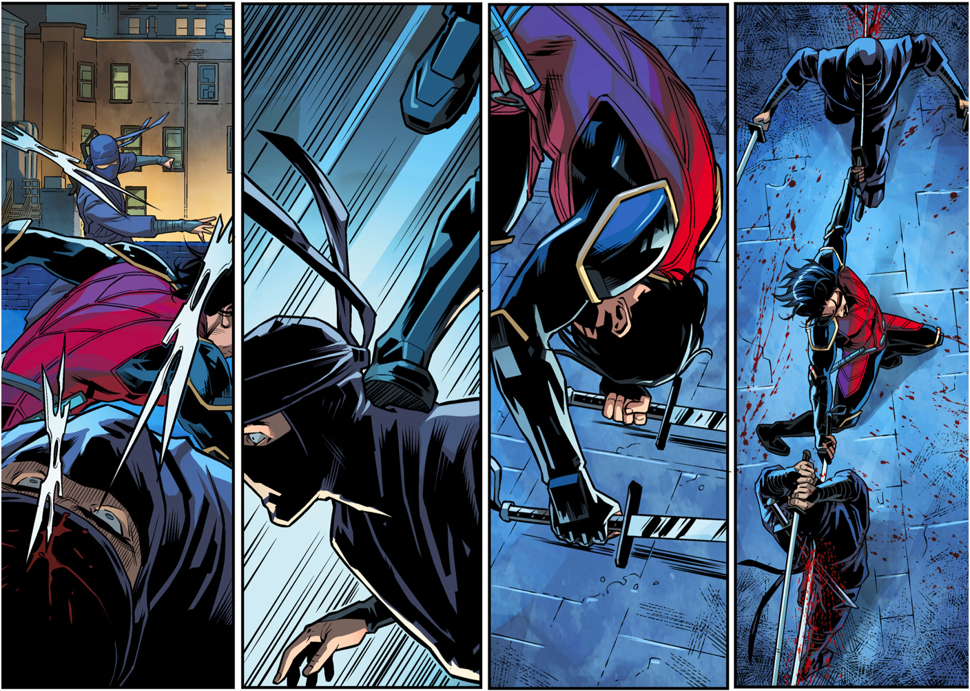 Nightwing (Damian Wayne) VS League Of Shadows Ninjas ...