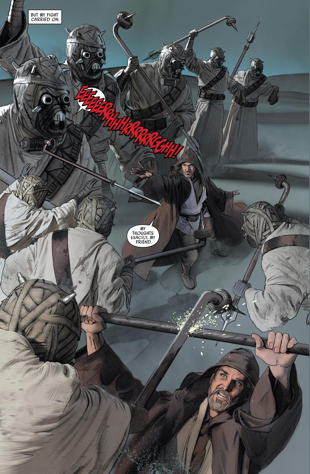 Obi Wan Kenobi Vs Tusken Raiders Comicnewbies
