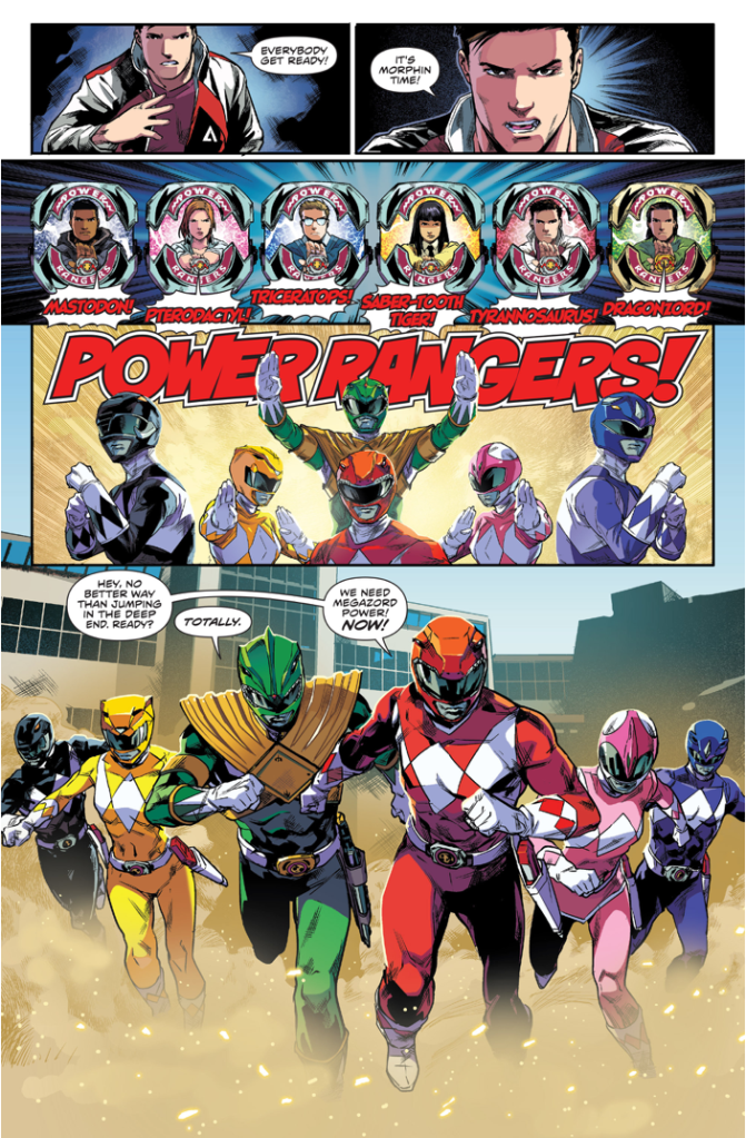 power rangers morphing time