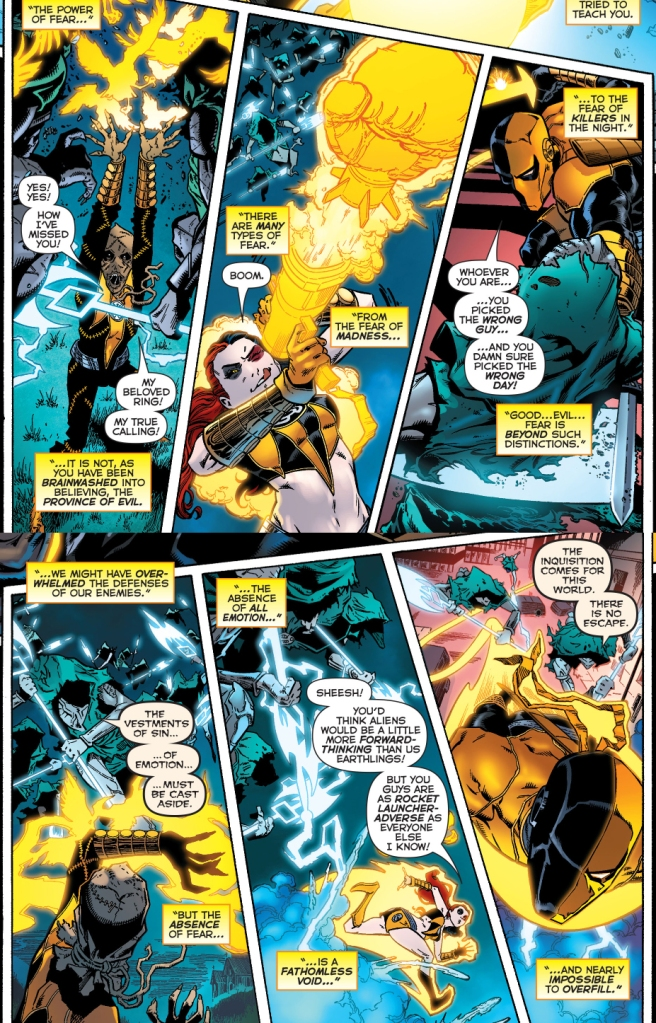 scarecrow, harley quinn and deathstroke joins the sinestro corps