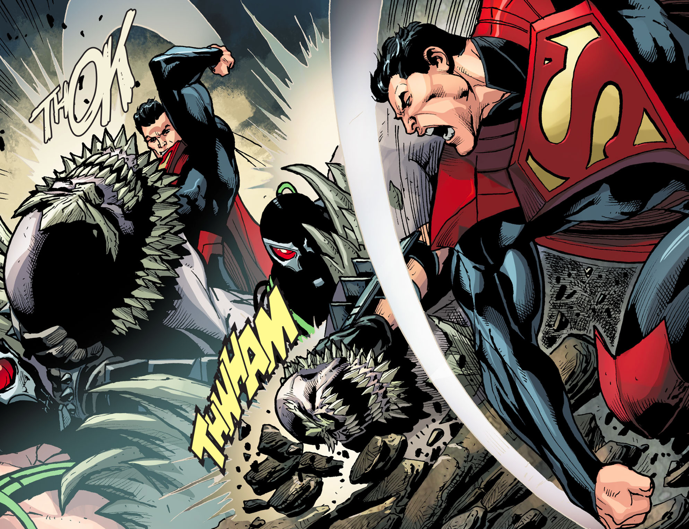 Superman And Bane Vs Doomsday Injustice Gods Among Us Comicnewbies