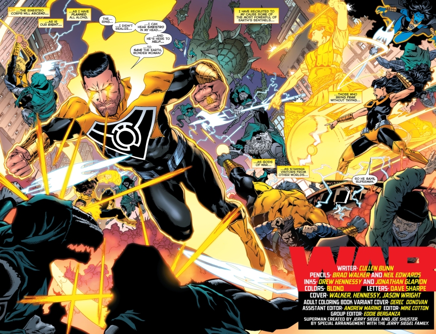 the sinestro corps vs the paling