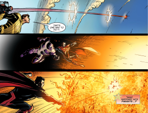 superman kills parasite (injustice gods among us)