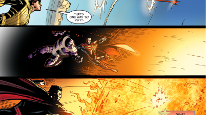 superman kills parasite (injustice gods among us)