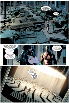 wonder woman inherits ares' armory