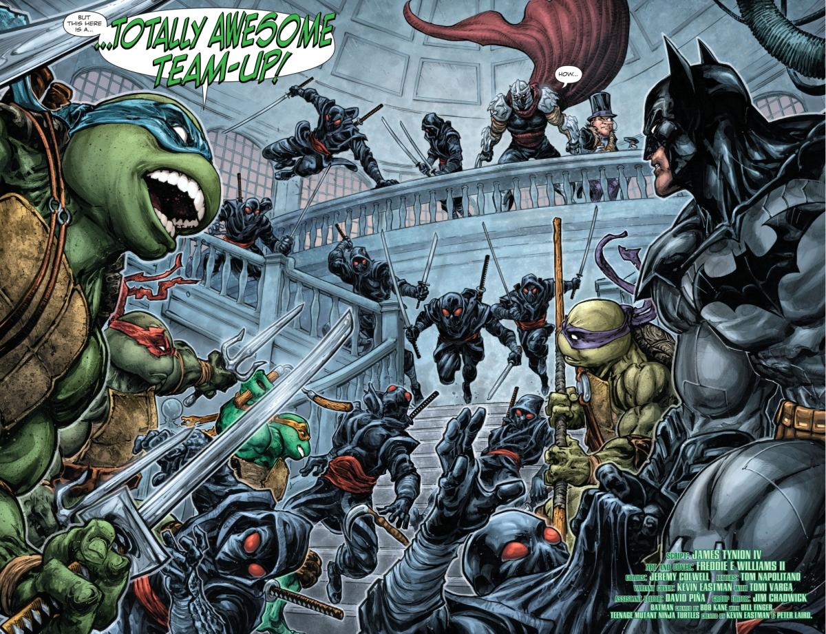 batman and the teenage mutant ninja turtles team up