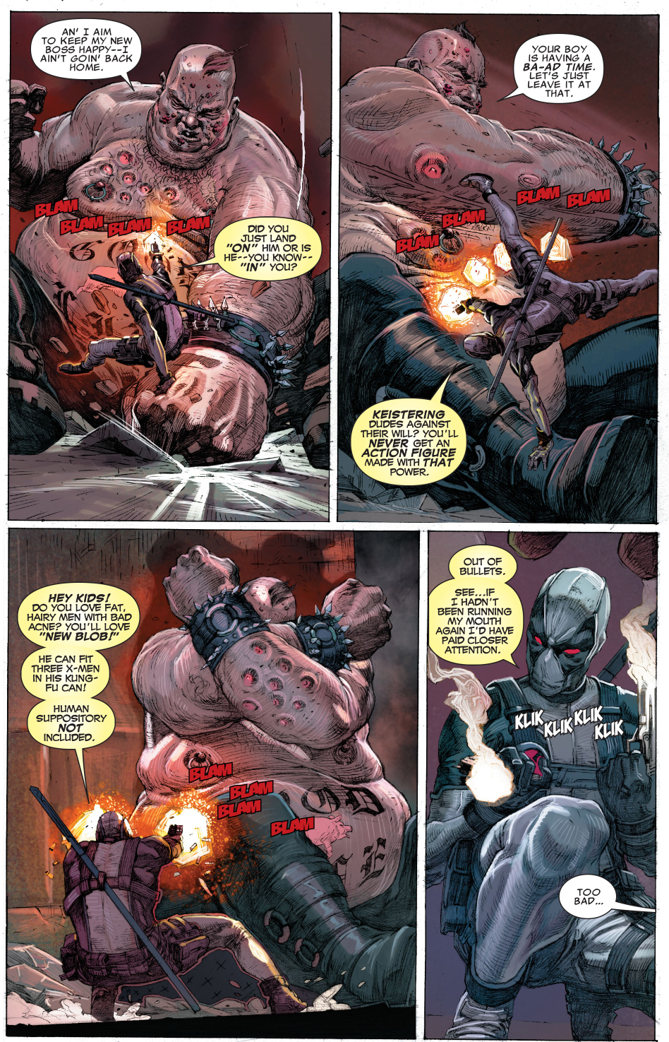 Deadpool And Fantomex VS Age Of Apocalypse Blob | Comicnewbies