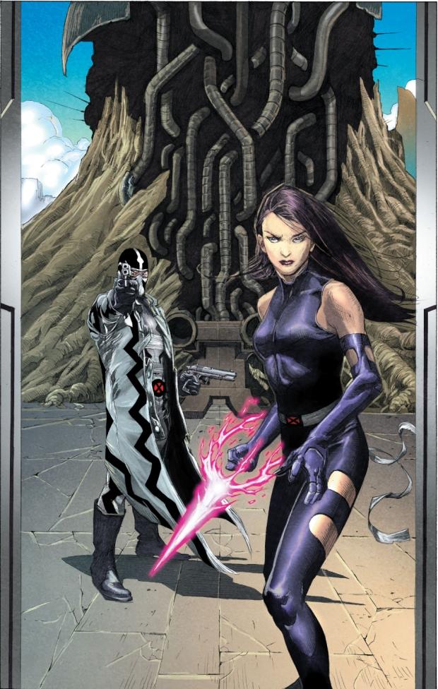 fantomex and psylocke (uncanny x-force 17)
