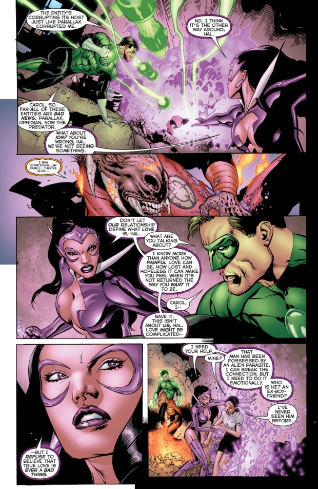 green lantern and star sapphire vs the predator