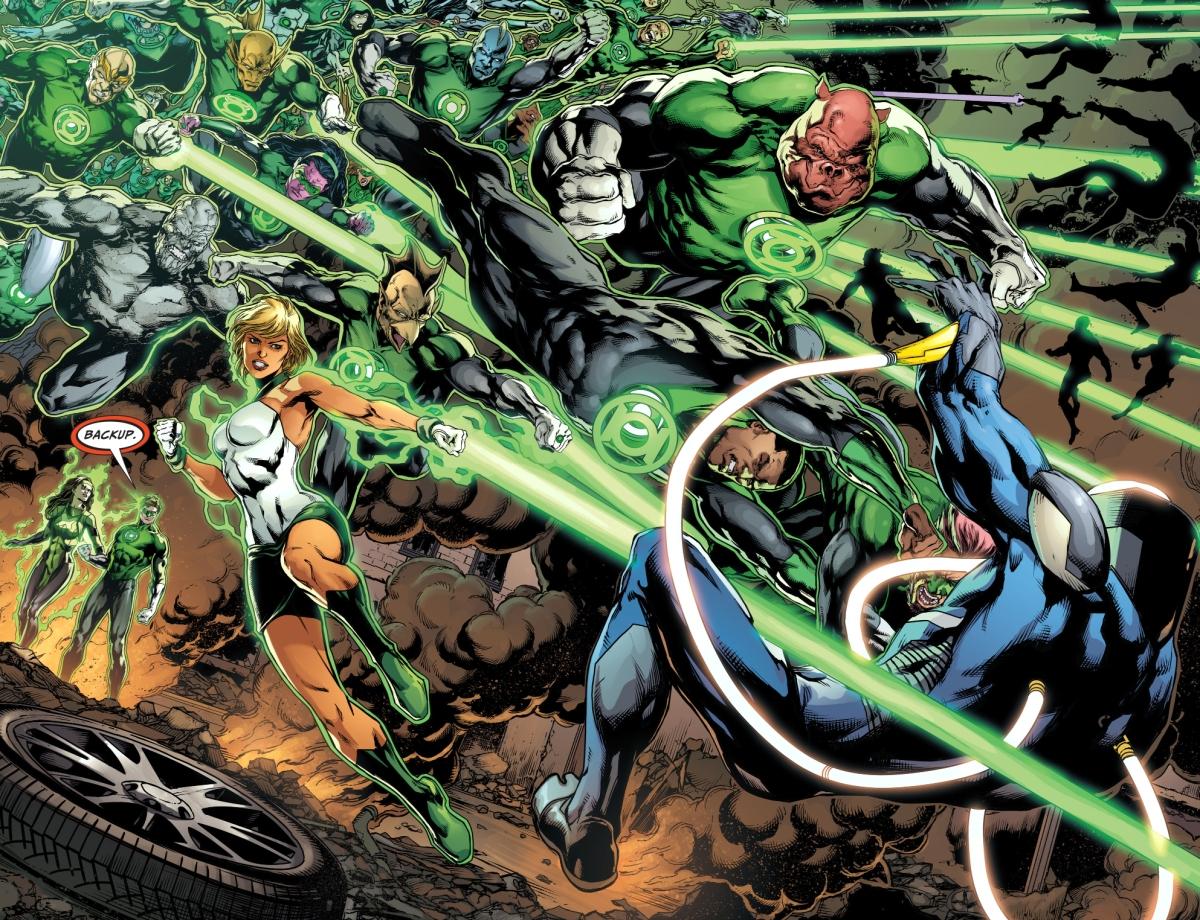 Green Lantern Corps And Power Ring VS Mobius | Comicnewbies  Deathstroke Vs Green Lantern