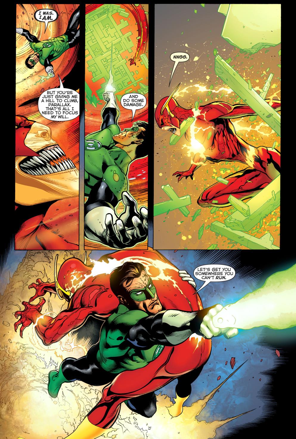 The Green Woman The Empress From The Wildwood Tarot: Green Lantern Hal Jordan VS Parallax-Flash