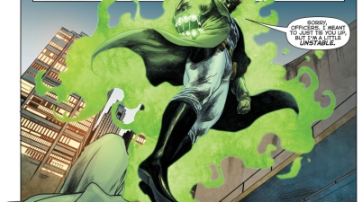 hal jordan using a giant fist (green lantern 49)