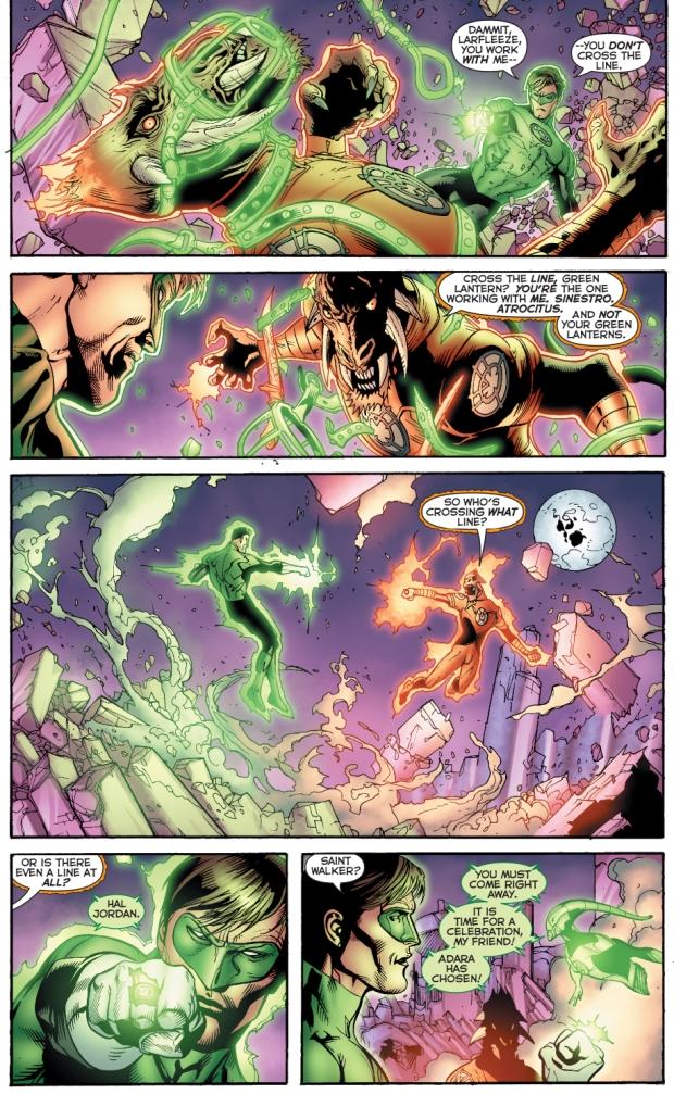 larfleeze vs green lantern (hal jordan)