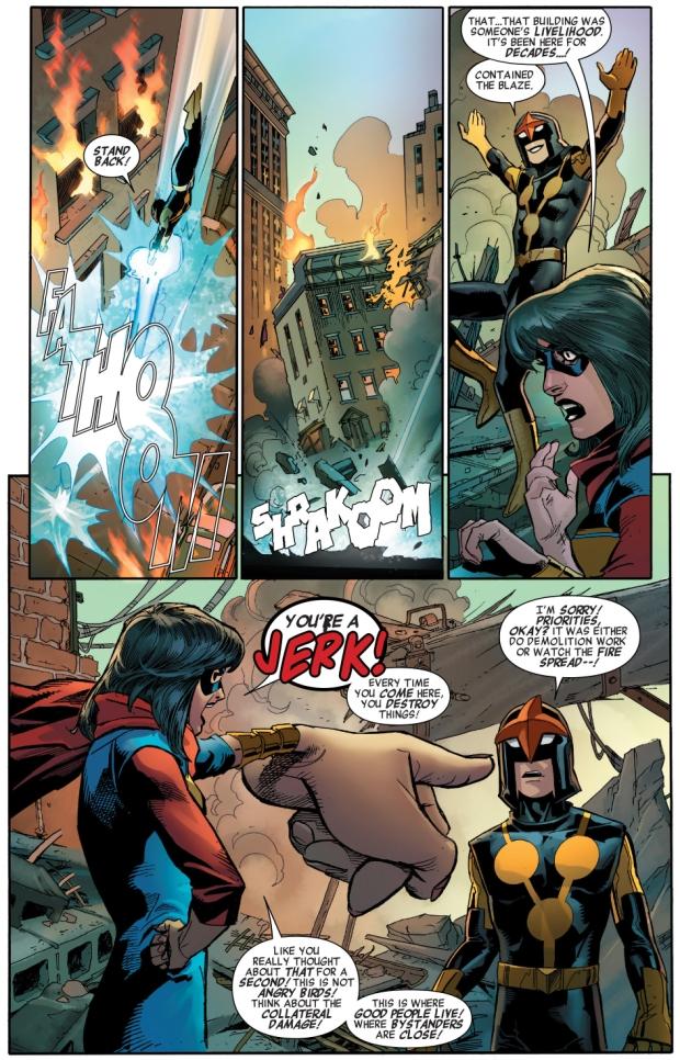 miss marvel and nova vs warbringer