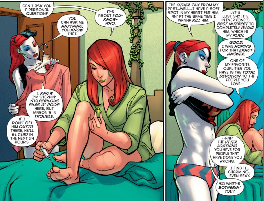 poison ivy loves harley quinn