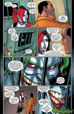 the joker taunting harley quinn