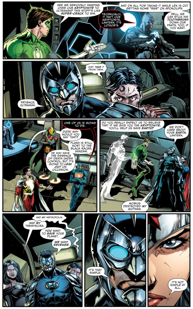 the justice league negotiates with the crime syndicate