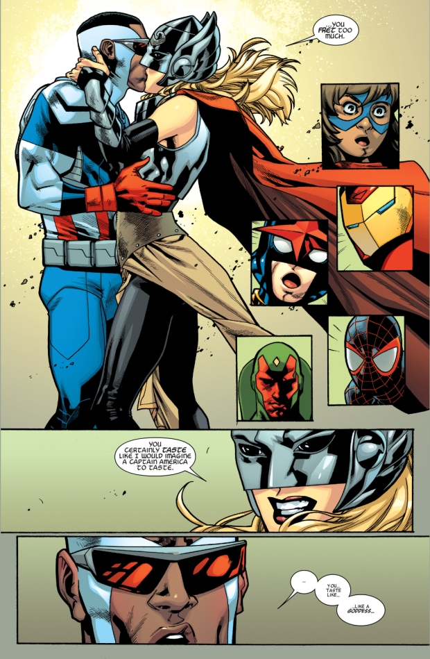 thor kisses captain america