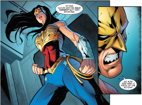 wonder woman vs hawkman (injustice gods among us)
