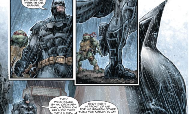 Batman Shares His Origin Story With Raphael