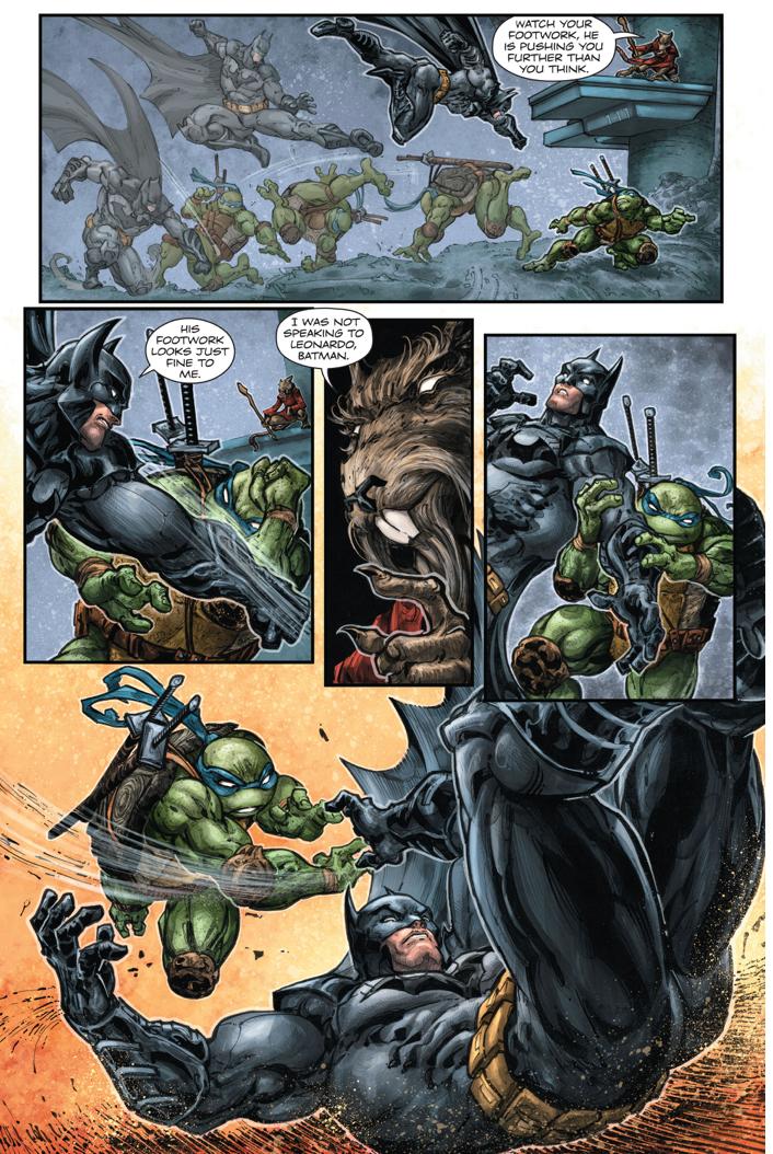 Batman Spars With Leonardo Comicnewbies