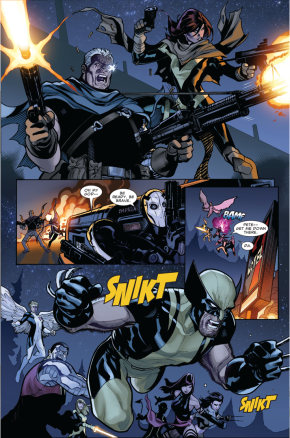 Cable And Hope Summers VS The Purifiers (Second Coming)