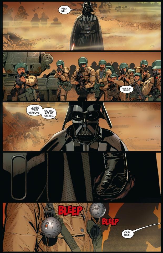 darth vader slaughtering rebel soldiers