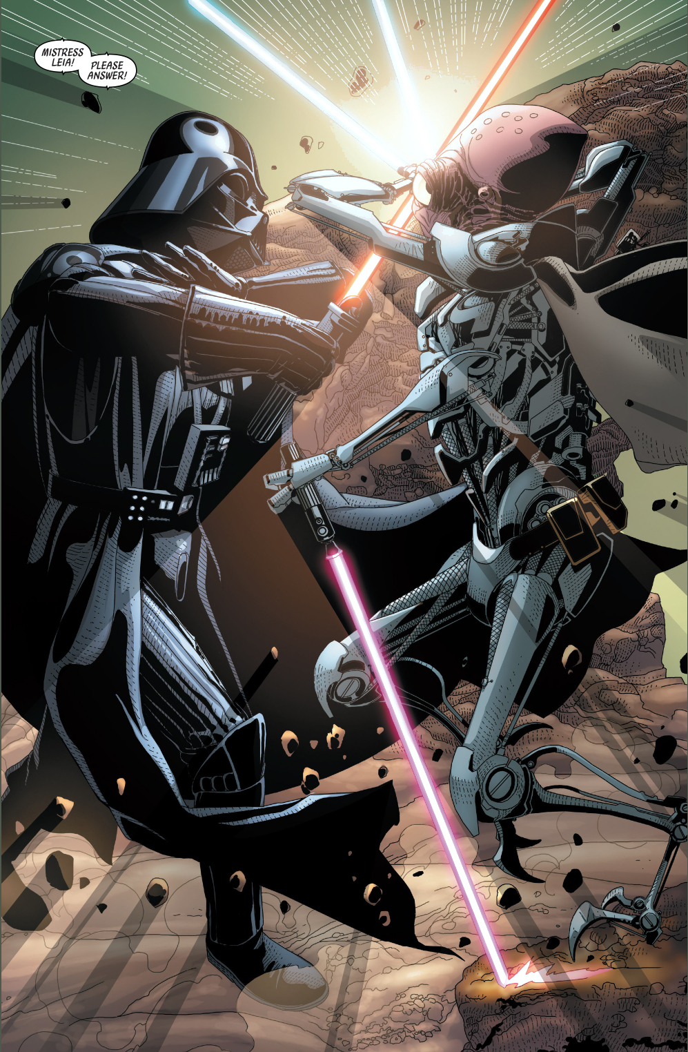darth vader vs commander karbin comicnewbies. Black Bedroom Furniture Sets. Home Design Ideas