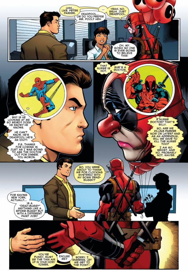 deadpool meets peter parker