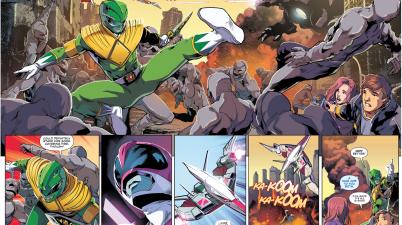 Green Ranger And Pink Ranger's Training Simulation