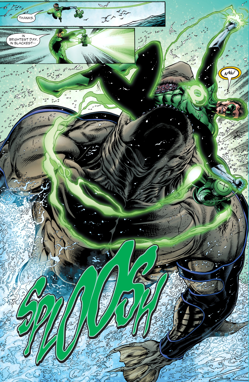 The Green Woman The Empress From The Wildwood Tarot: The Shark Takes Out Green Lantern