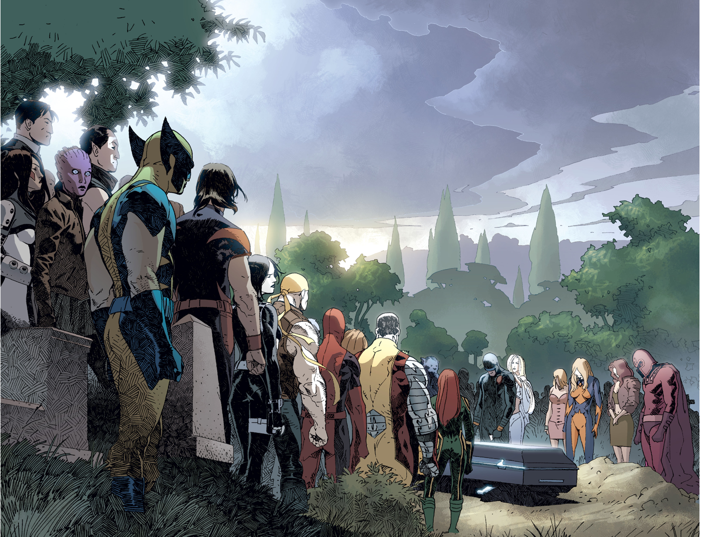 Image result for x-men funeral