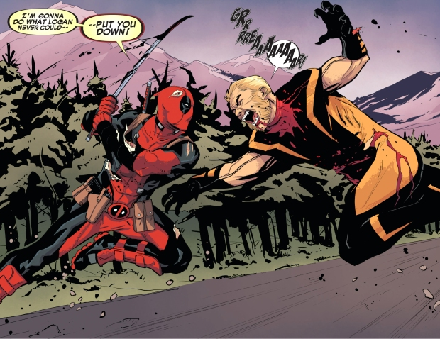 deadpool vs sabretooth