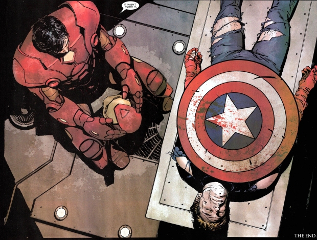 iron man mourns captain america (civil war)