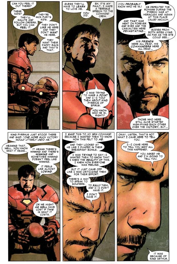 iron man on meeting king arthur