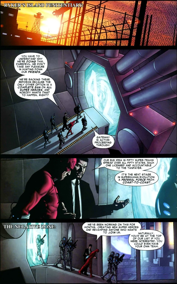 iron man puts daredevil in jail