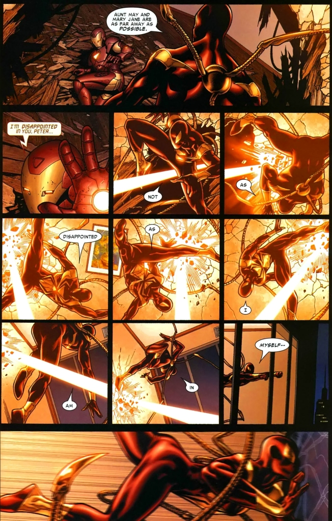iron spidey vs iron man (civil war)