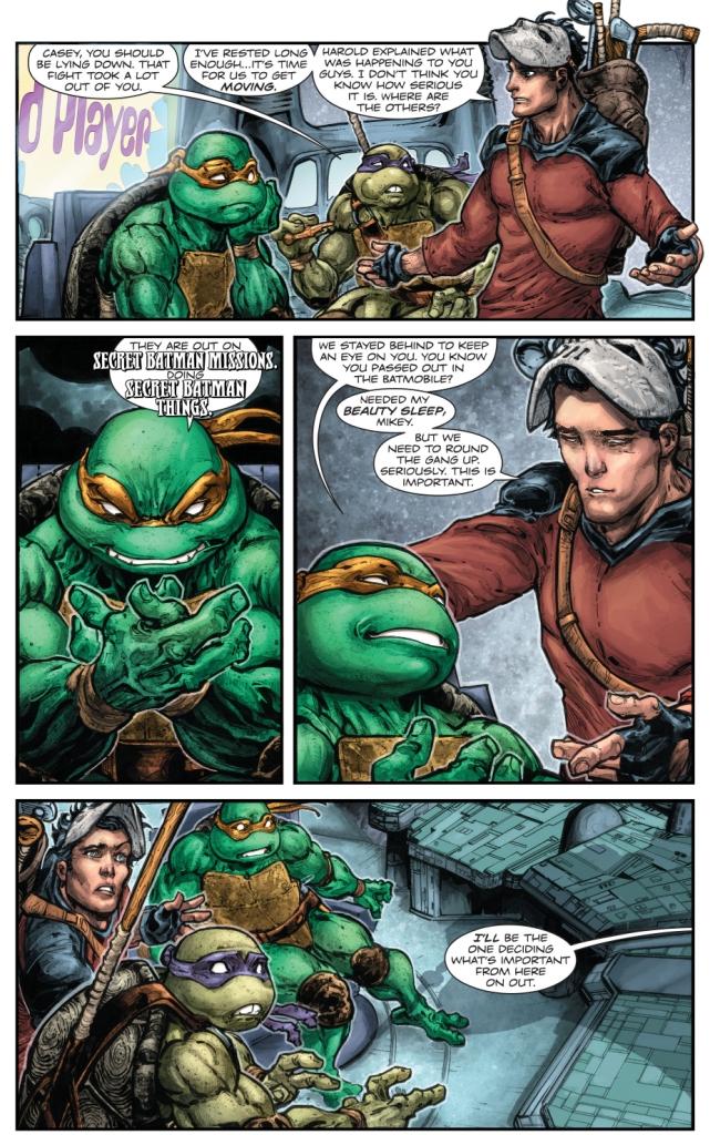 Robin VS Donatello, Michelangelo And Casey Jones